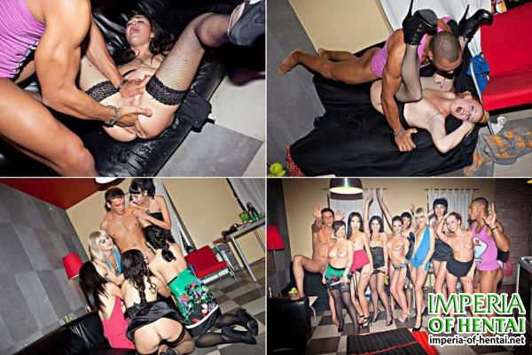 Amelia, Demi, Yani, Adelle, Annika, Sofie, Yiki and Zara - Fake B-day Party For Horny College Chicks (2018/HD)