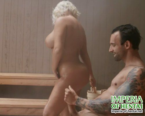 Monica fucked in the sauna