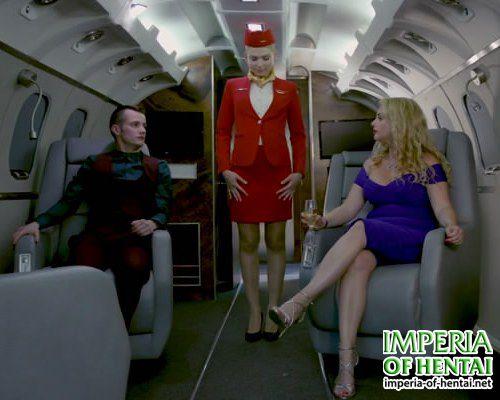 Irene is a very sexy stewardess